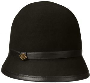f79cbedbc59 Women s Aleesha Cloche Hat with Faux Leather Brim and Band