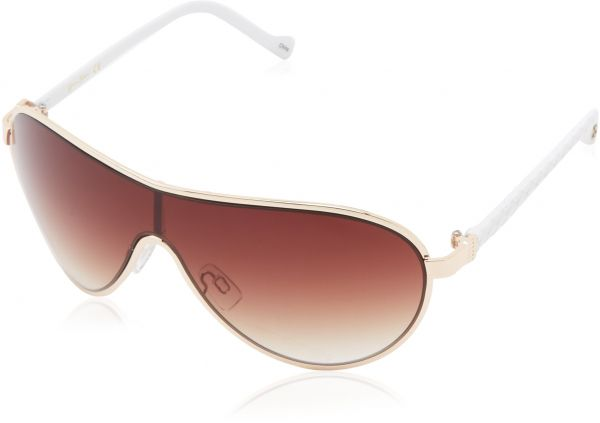 d9a233eac9 Jessica Simpson Women s J5087 GLDWH Modified Aviator Sunglasses