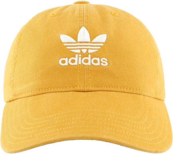 adidas Women s Originals Relaxed Fit Cap yellow  31b9eb4a8ce3