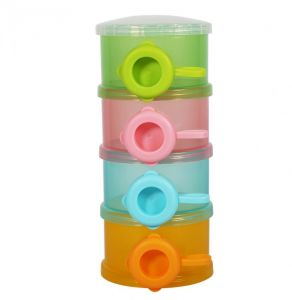 4Layers Baby Food Containers Portable Infant Milk Powder Storage Formula Containers Dispenser Case Baby Care Food Supplements