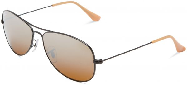 827b1279db ... promo code ray ban cockpit matte black frame brown silver mirror  gradient lenses 56mm non polarized
