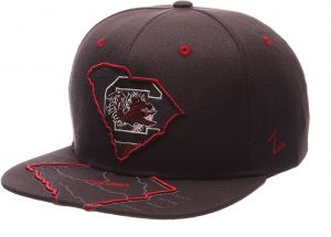 194262dd Zephyr NCAA South Carolina Fighting Gamecocks Men's Stateline Snapback Cap,  Adjustable Size, Charcoal