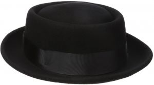 premium selection db3ae c75ce Henschel Men s 100% Wool Felt Porkpie Hat and Grosgrain Ribbon Band and  Bow, Black, Medium
