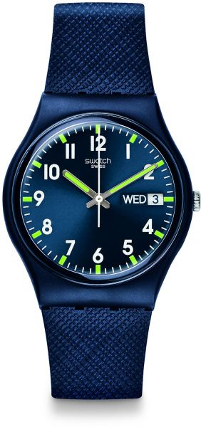 itm watches shshd mens blue watch leather used ebay analog s band