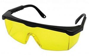 VIQILANY Laser Eye Protection Safety Glasses fOr Red and UV Lasers with Case (Yellow)