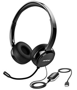 aec0cae24d5 Mpow 071 USB Headset/ 3.5mm Computer Headset with Microphone Noise  Cancelling , Lightweight PC Headset Wired Headphones, Business Headset for  Skype, ...