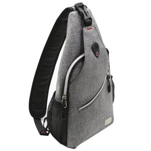 b4db1564688 MOSISO Sling Backpack, Polyester Water Repellent Durable Chest Shoulder  Unbalance Gym Fanny Lightweight Crossbody Sack Satchel Outdoor Hiking Bag  for Men ...