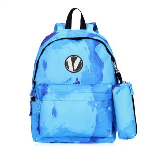 Veegul Cute School Backpack Small Printed Backpack with Pencil Case for Kids  Light Blue 02cb01e49c1d0