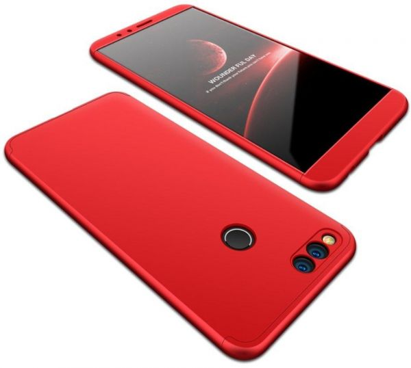 detailed look 774a8 33101 Huawei Honor 7X Case, fashion ultra Slim Gkk 360 Full Protection Cover Case  - Red