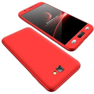 Samsung Galaxy J7 Prime Case, fashion ultra Slim Gkk 360 Full Protection Cover Case - Red