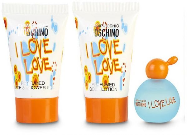 b9c3abd1cb14d Moschino I Love Love 3 Pieces Mini Gift Set for Women