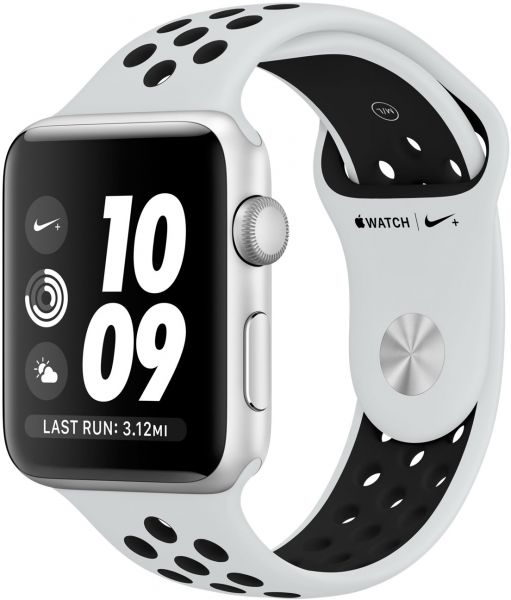 Apple Watch Nike+ Series 3 - 38mm Silver Aluminum Case with Pure  Platinum/Black Nike Sport Band, GPS, watchOS 4, MQKX2