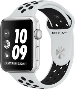 6a08006cd Apple Watch Nike+ Series 3 - 42mm Silver Aluminum Case with Pure  Platinum/Black Nike Sport Band, GPS, watchOS 4, MQL32