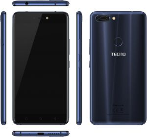 Tecno Phontom 8 Dual SIM - 64GB, 6GB RAM, 4G LTE, Blue