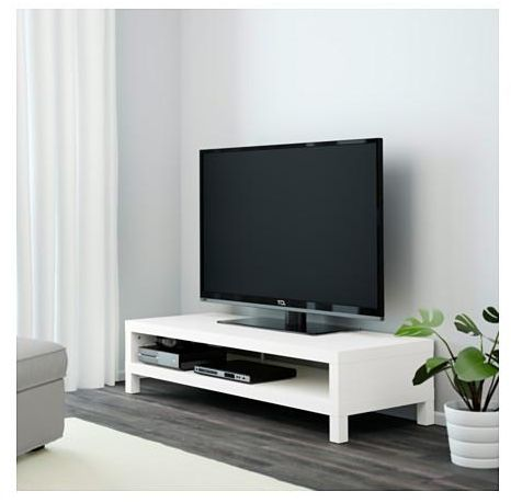 Wooden TV Table, White
