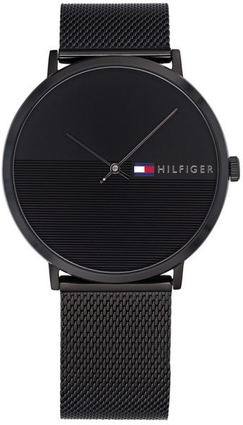 0884ea09a93 Tommy Hilfiger Men s Black Synthetic Casual Watch - 1791464