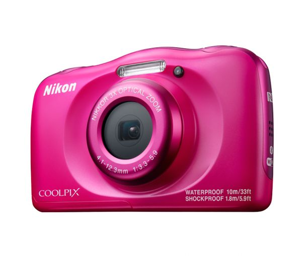 Nikon CoolPix W100 - 13 2 MP 3X Sport Action Camera, Pink