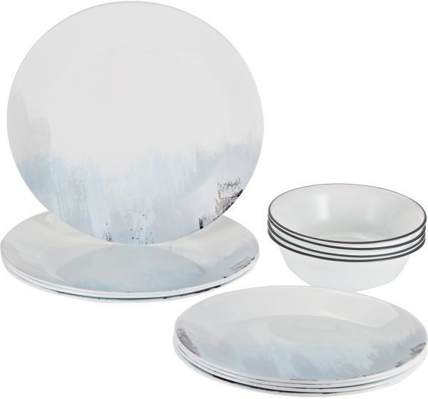 Corelle Vitrelle Tranquil Reflections Dinnerware Set 12 Pieces - Multi Color  sc 1 st  Souq.com & Souq | Corelle Vitrelle Tranquil Reflections Dinnerware Set 12 ...