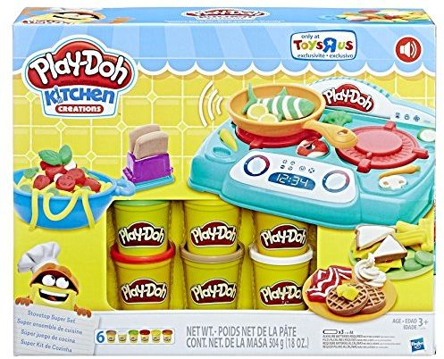 Play Doh Kitchen Creations Stovetop Super Set With Sizzlin Sounds