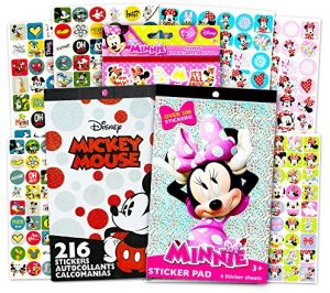 Mickey And Minnie Mouse Stickers.Disney Mickey Mouse Sticker Pad And Minnie Mouse Sticker Pad Set Over 400 Stickers Total