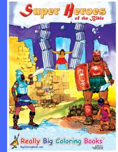 Super Heroes Of The Bible Giant Jumbo Coloring Book 18 Wide X 24 Tall
