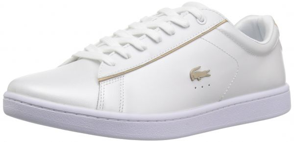 cheap for discount 75843 d7ac9 Lacoste Women's Carnaby EVO 118 6 Spw Sneaker, White/Gold ...