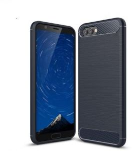4c9eef6fba336 Huawei Honor View 10 Carbon Fiber Brushed Case Cover - Blue.