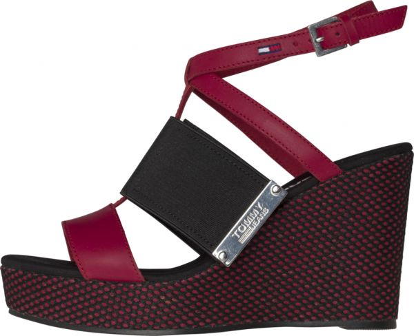 e0d7d1e8ea6 Tommy Hilfiger Jeans Wedges for Women - Red