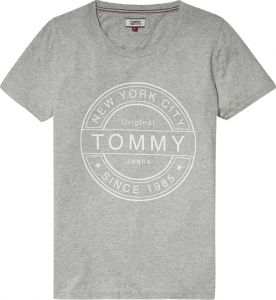 7b575a271b29 Tommy Hilfiger TJW Stamp Logo Printed T-Shirt for Women - Grey