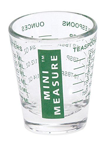 mini measure multi purpose liquid and dry measuring shot glass heavy glass 26 incremental measurements for teaspoons tablespoons ounces and milliliters - How Many Ounces In A Shot Glass