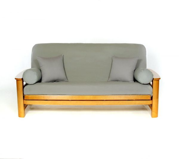 Life Style Covers Full Size Futon Cover Silver Smokef