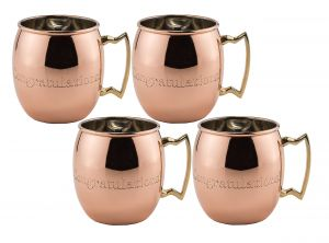 5385c84b9594 Old Dutch 16 Oz. Nickel-Lined Solid Copper Congratulations engraved Moscow  Mule Mug