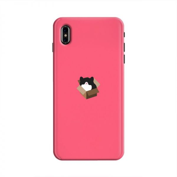 Cover It Up Cat In A Box Hard Case For Iphone X Pink Souq Uae