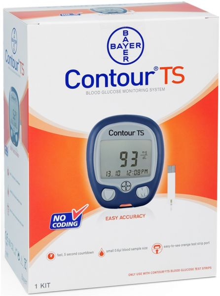Ascensia Contour Ts Blood Glucose Monitoring System Souq