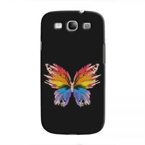 Cover It Up Rainbow Butterfly Hard Case For Samsung Galaxy S3, Multi Color