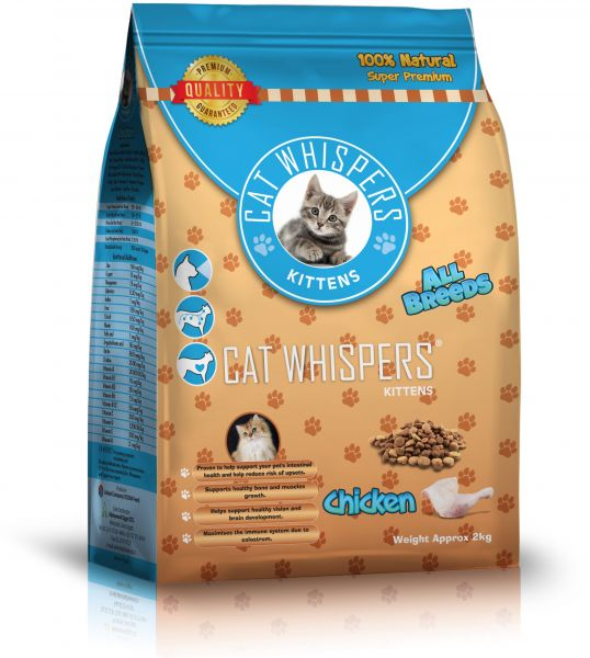 Cat Whispers Super Premium Dry Food For Youngbaby Cats 2 Kg