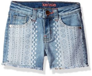 33aff59781 kensie Big Girls' Casual Short (More Styles Available), 3022 Light Blue  Denim, 8