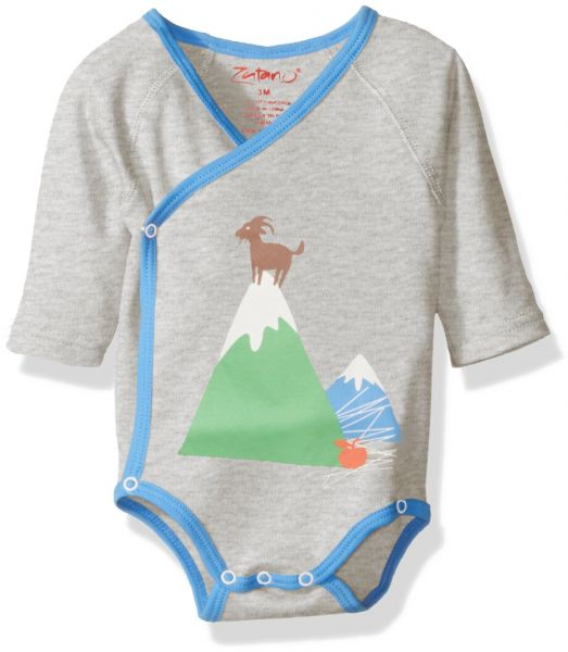 6d515b35 Zutano Baby Printed Long Sleeve Wrap Body, Top Of The Mountain, New ...