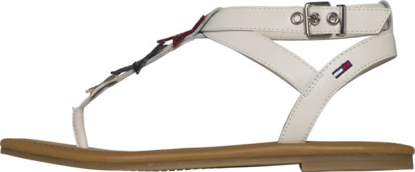 0c285fe2ef060c Tommy Hilfiger Jeans Flat Sandal for Women - White. by Tommy Hilfiger