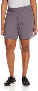 4a55c7ff01 Just My Size Women's Plus Cotton Jersey Pull-On Shorts - 3X Plus - Charcoal  Heather