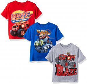 3c3e0fc34 Nickelodeon Boys  Little Boys  Blaze and Monster Machines 3 Pack T-Shirt  Bundle
