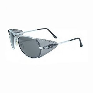 07b32e89ff4 Global Vision Eyewear Silver Frame Safety Aviators with Clear Lenses and  Side Shields