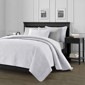 New Chezmoi Collection Oversized 3 Piece King Bedspread Coverlet Set Austin