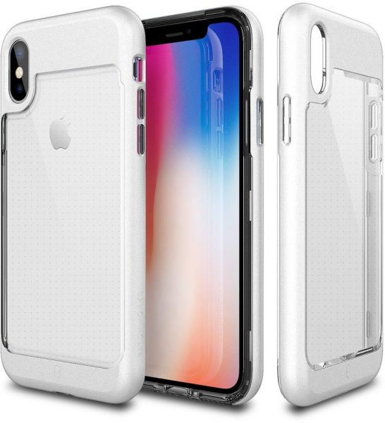 Apple iPhone X Patchworks Contour Back Case Cover - White