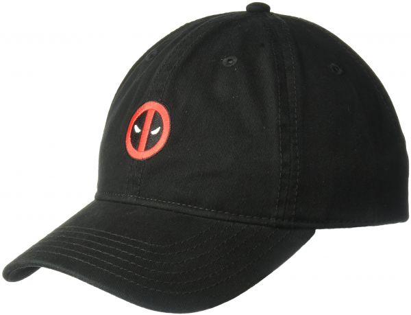0da7ae81 ... italy marvel mens embroidered deadpool baseball cap 100 washed cotton  twill black one size b36de f77a3