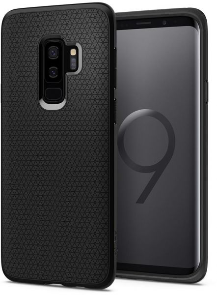42164a6f15a53a Spigen Samsung Galaxy S9 PLUS Liquid Air cover   case - Matte Black S9+