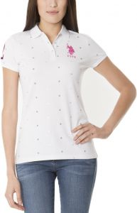 b9696693a797 U.S. Polo Assn. Dot Polo T-Shirt for Women - White