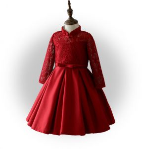 bb43c3df7 Buy girls red colour party dress