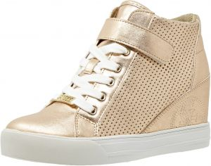 Guess Lace Up Boots for Women - Rose Gold