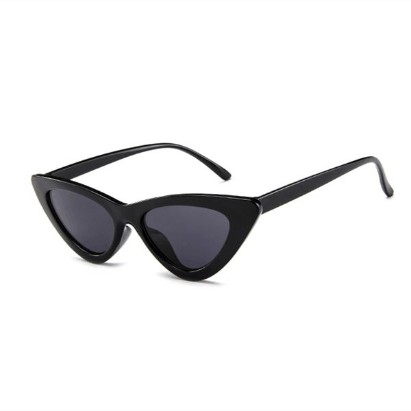 c6b02c3d1a Retro Vintage Narrow Cat Eye Sunglasses for Women Clout Goggles Plastic  Frame